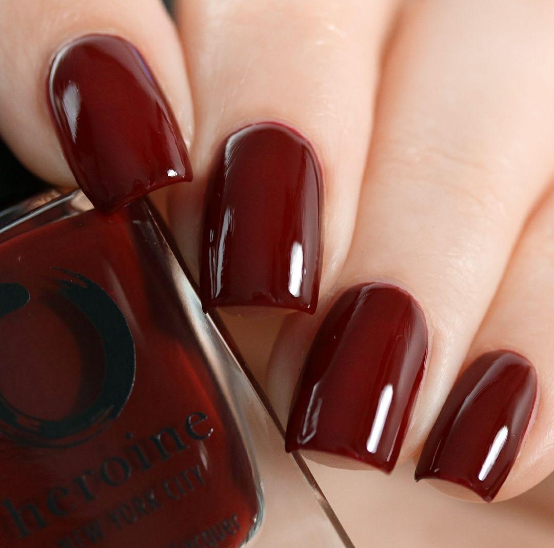 Wine At Midnight Maroon Nails Dark Red Nails Red Nails