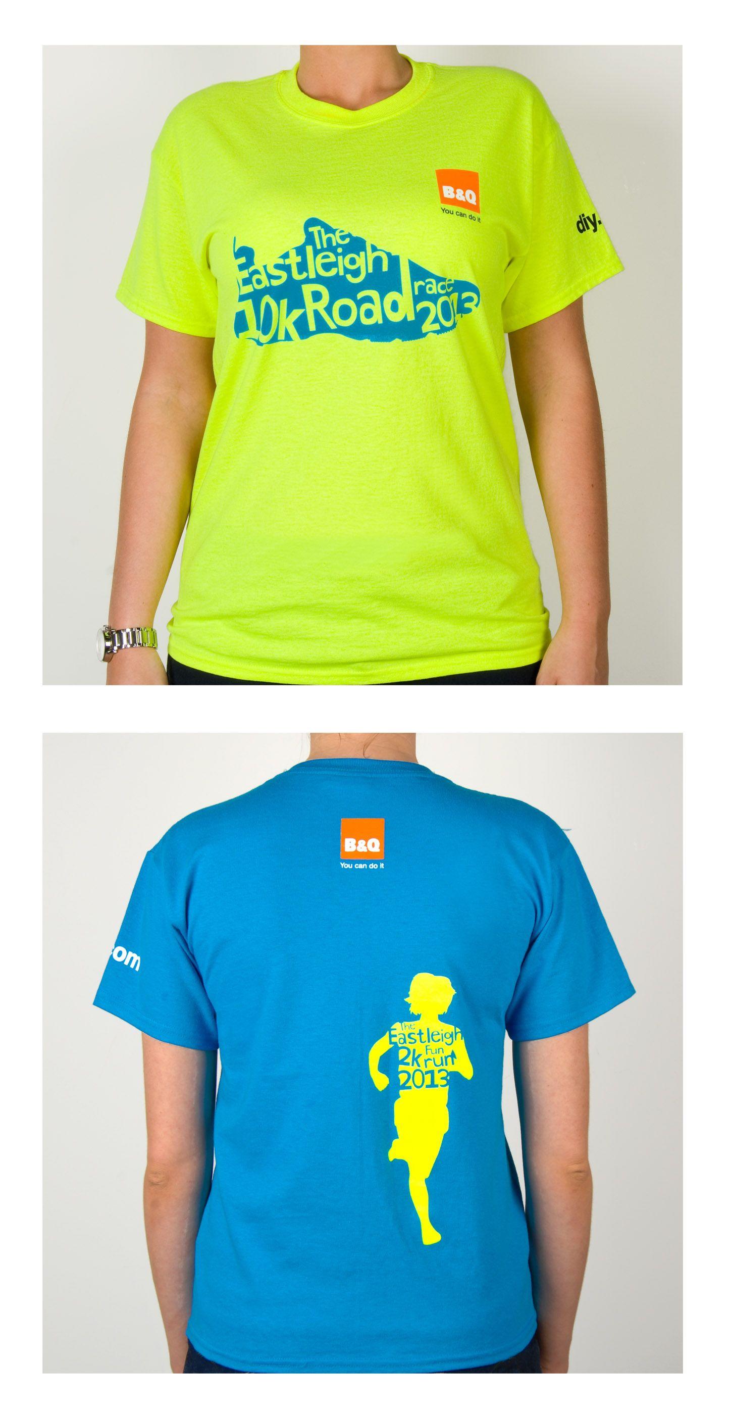 8b612febf2e70 Fluorescent Eastleigh 10k and 2k Fun Run t-shirts 2013   Feels like ...