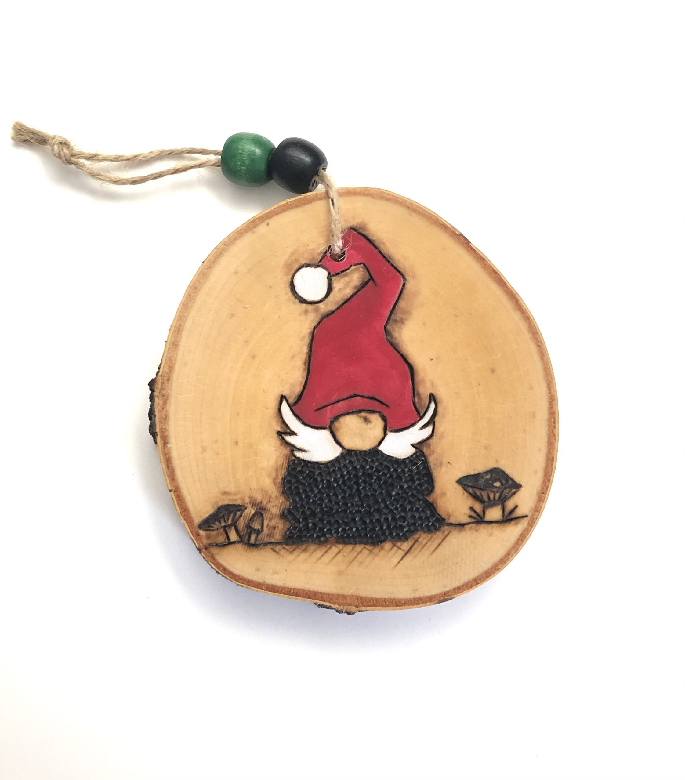 Christmas Gnome Wood Slice Ornament Etsy Wood Christmas Ornaments Wood Slice Ornament Country Christmas Ornaments