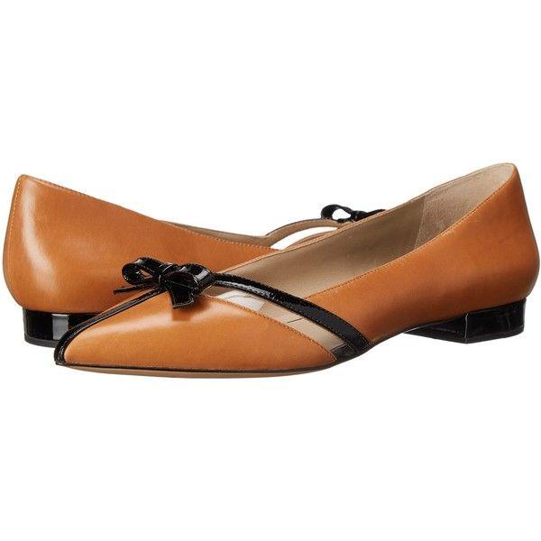 Michael Kors Joey (Suntan Smooth Calf/Patent/Vinyl) Women's Slip on.