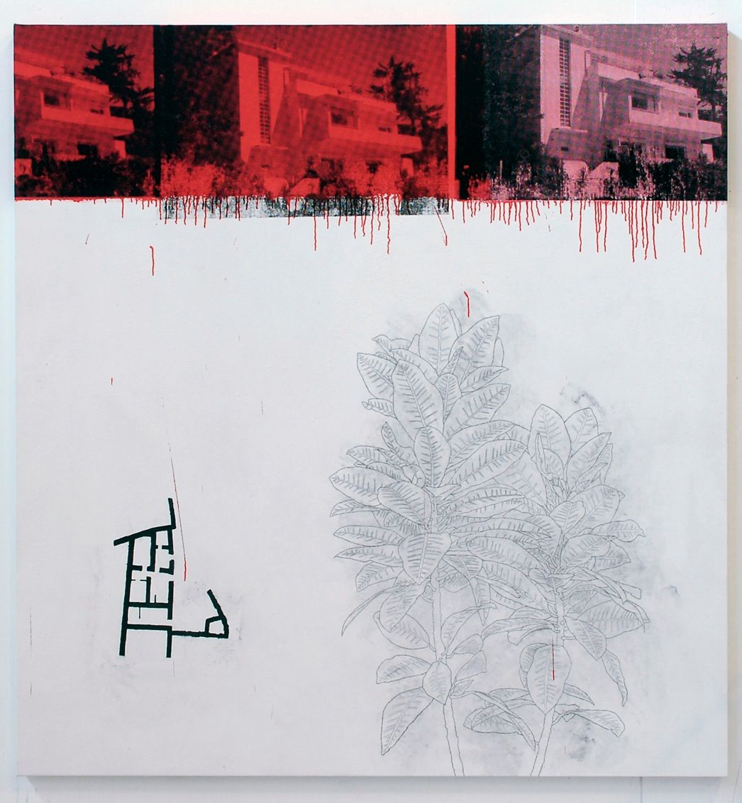 "Julião Sarmento, ""Estoril Red Plants,"" 2010/2011"