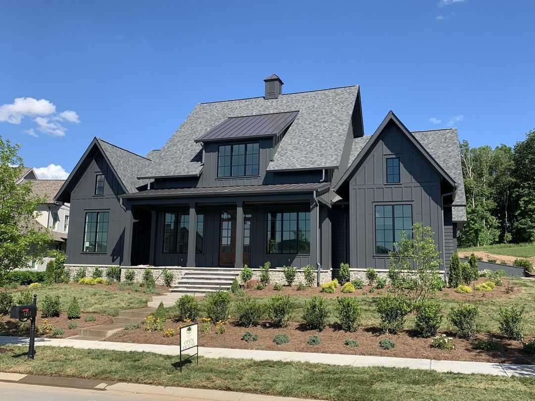 Legend Homes Llc On Instagram We Are So Excited To Announce That Our Furnished Model Black House Exterior White Farmhouse Exterior Modern Farmhouse Exterior