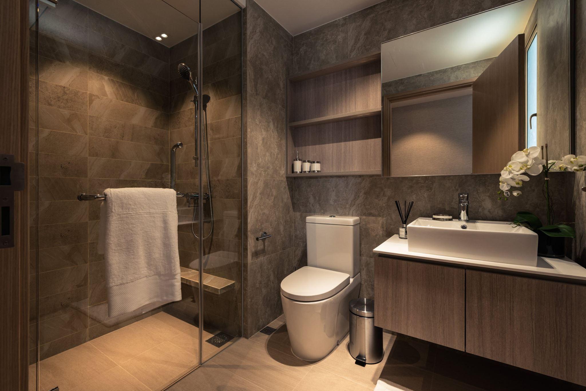 pinserene tay on a home bathroom  bathroom interior