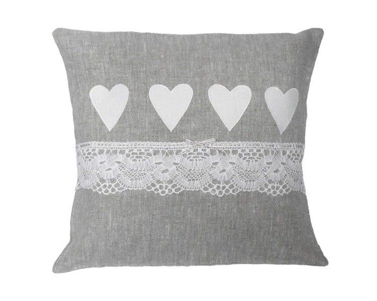 Kissen - ~vintage~ Kissen leinen weiß shabby - ein Designerstück von ...