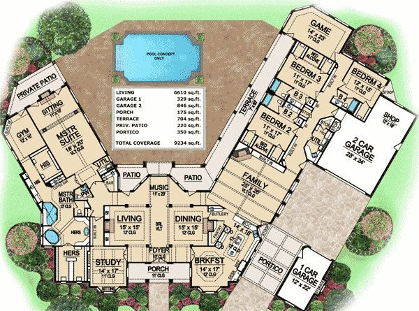 Packed With Amenities Country Style House Plans Luxury Plan How To Plan