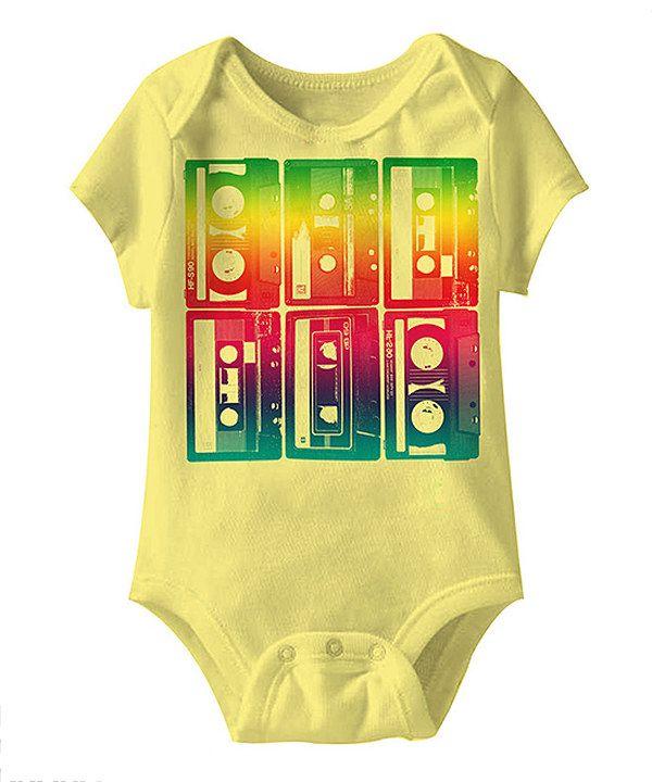 Rainbow Tape Cassette Mosaic Bodysuit