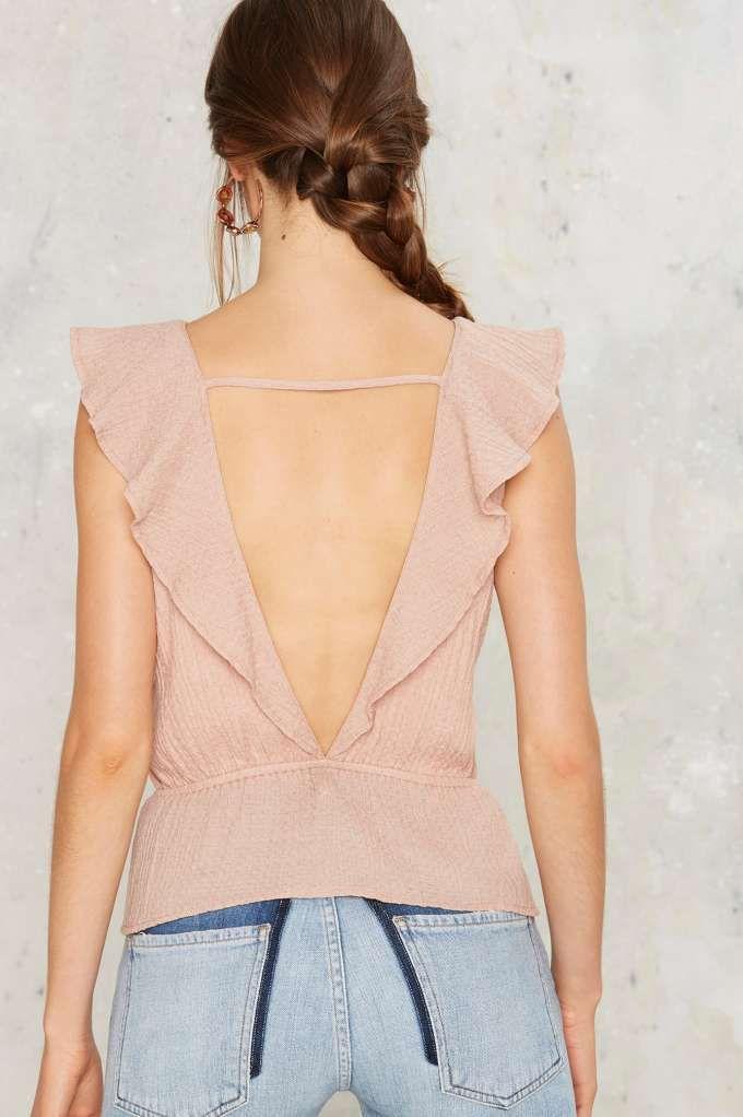 8955397a3 Escote de espalda | blusas | Blusas, Blusas de moda y Blusas mujer