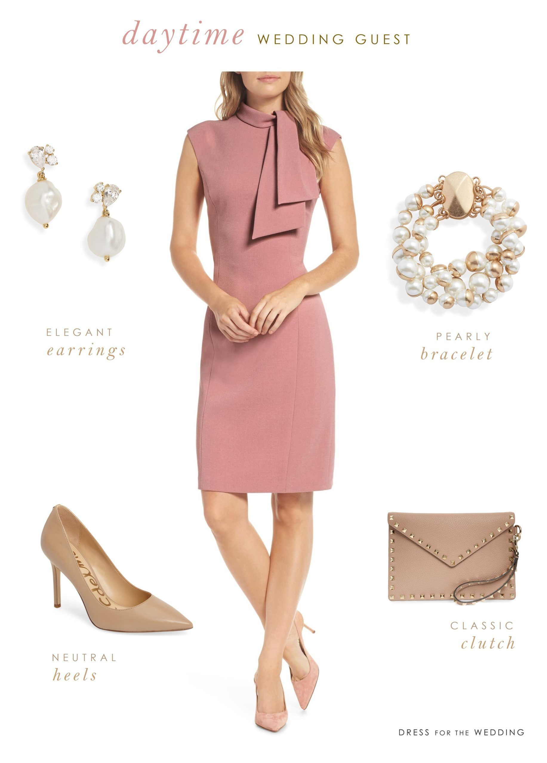 Pink Wedding Guest Outfit For Daytime Wedding Dress For The Wedding Pink Wedding Guest Outfits Casual Wedding Guest Dresses Pink Wedding Guest Dresses [ 2560 x 1833 Pixel ]
