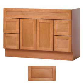 Insignia Crest Cinnamon Transitional Bathroom Vanity (Common: 48-in x 21-in; Actual: 48-in x 21-in)