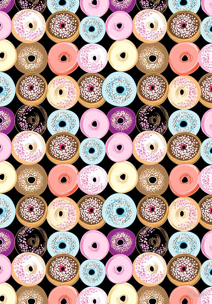 Pattern Delicious Donuts By Tanor Pattern Wallpaper Pattern Iphone Wallpaper
