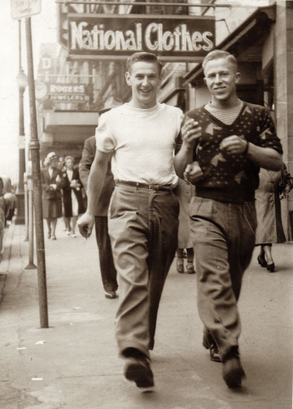 quot frank on right before he played football for the