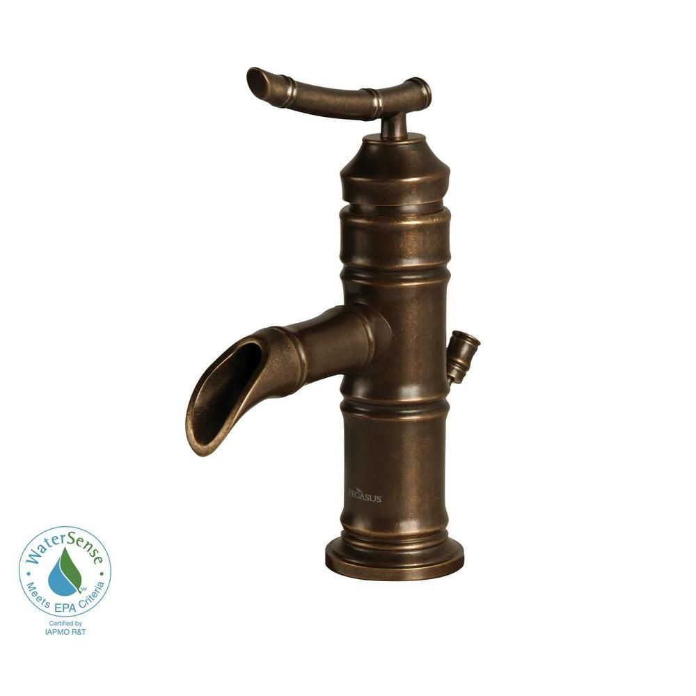 Pegasus Bamboo 4 in. Minispread 1-Handle Low-Arc Bathroom Faucet in ...