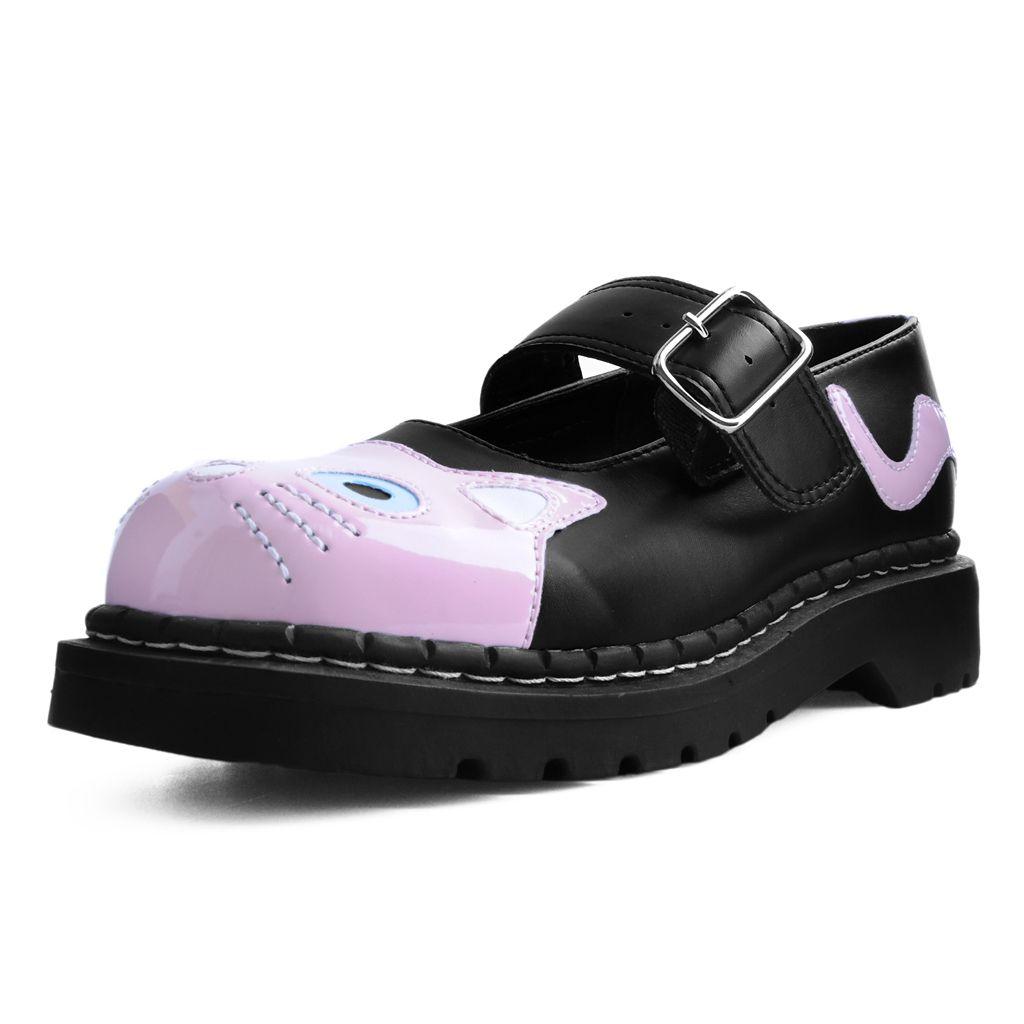 Shoes Black /& Pink TUKskin™ Kitty Anarchic Mary Jane T.U.K