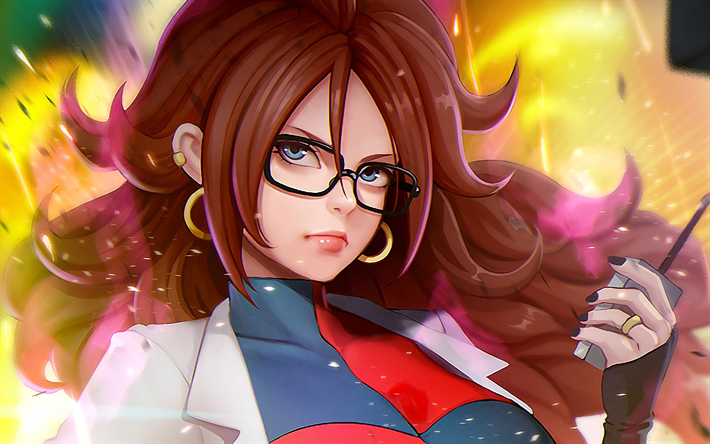 Download wallpapers 4k, Android 21, anime characters