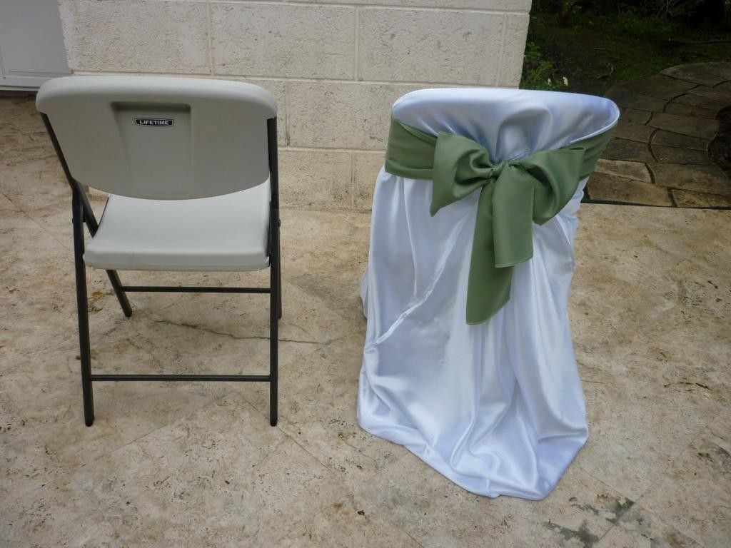 Stretch Chair Covers For Folding Chairs How To Make A Cover Pinterest