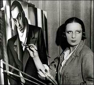 "Tamara de Lempicka (Łempicka) (16 May 1898 – 18 March 1980), born Maria Górska in Warsaw , Poland ,[1] was a Polish Art Deco painter and ""the first woman artist to be a glamour star."