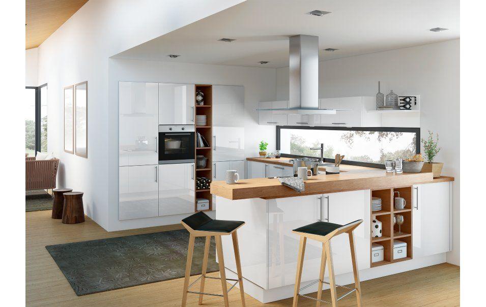 moderne u-form küche mit fronten in elegantem