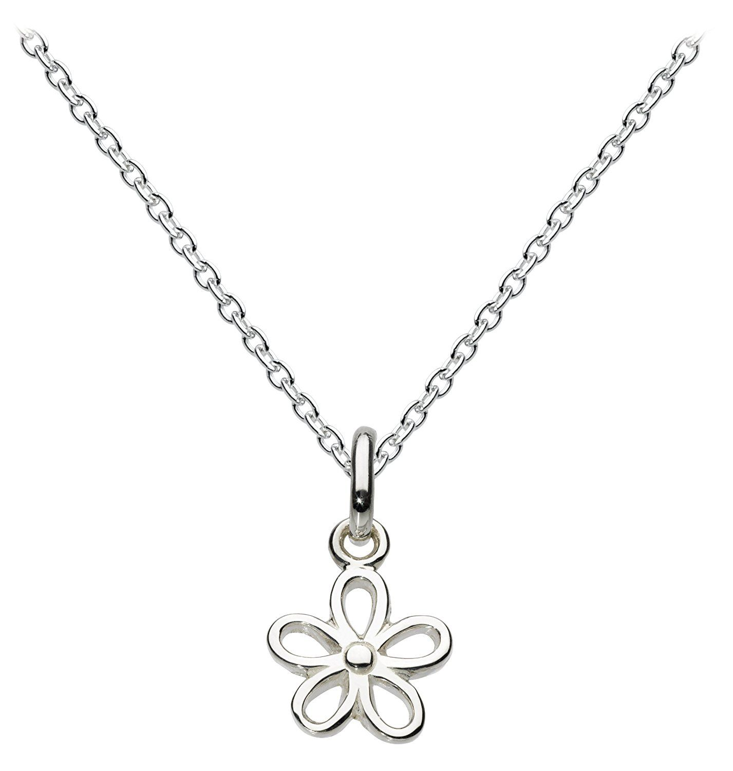 Dew Women's Sterling Silver Engraved Cross Necklace of Length 18 inch tfmWsD1