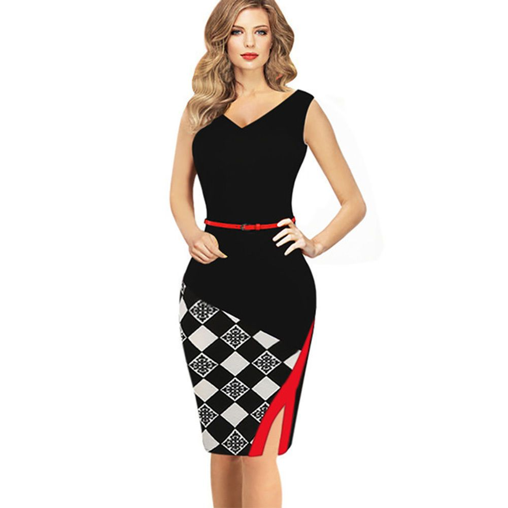 69d5807c705ce Details about Elegant Women's Business Office Dress Formal Bodycon ...