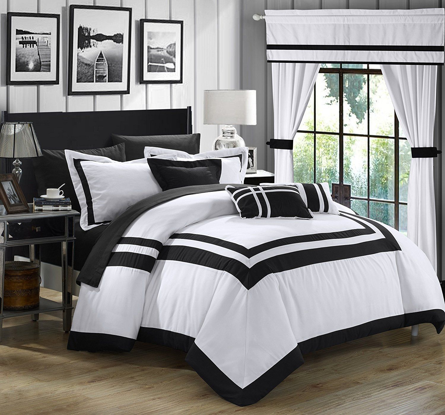 Black and White Comforter Sets Queen, Duvet Covers, Bedspreads ...
