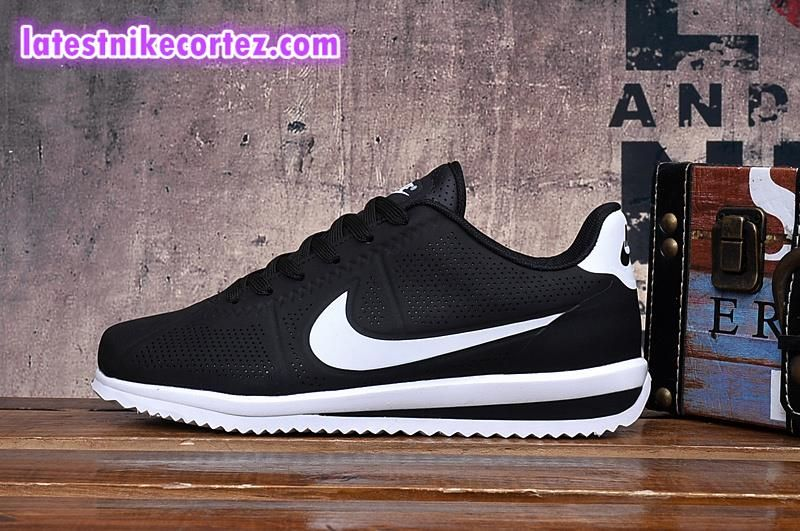 f2c1f9c5e0e33 New Arrival Nike Classic Cortez Ultra Moire Sneakers For Man Black White  Hot Sell