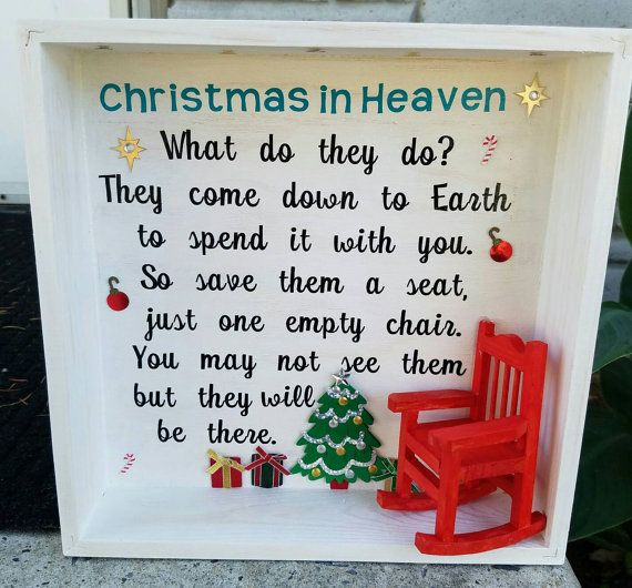 Christmas In Heaven Shadow Box Holiday Decor By