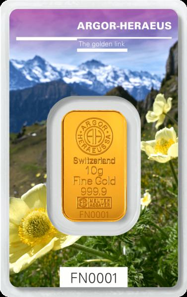 10 G Goldbarren Heraeus Following Nature 2019 Fruhling Gold Bar Investing Gold
