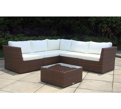 Baidani Rattan Garten Lounge Atmosphere inkl 2 Bezugsgarnitur