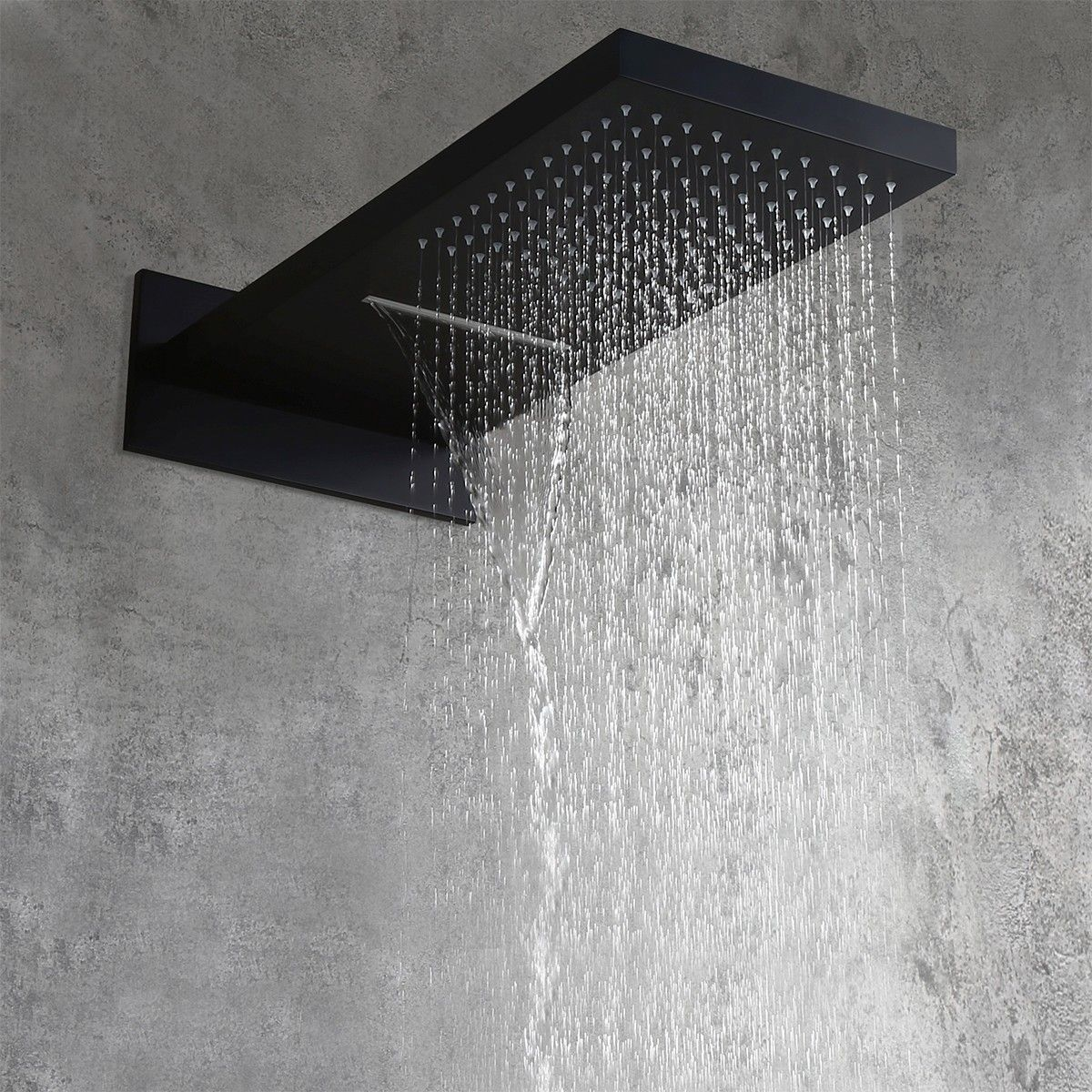 Modern Minimalist Wall Mounted 2 Function Rainfall Waterfall