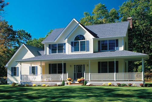 G24245 Wrap Around Porch At Menards Wrap Around Porch House Wrap Around Porch Building Plans