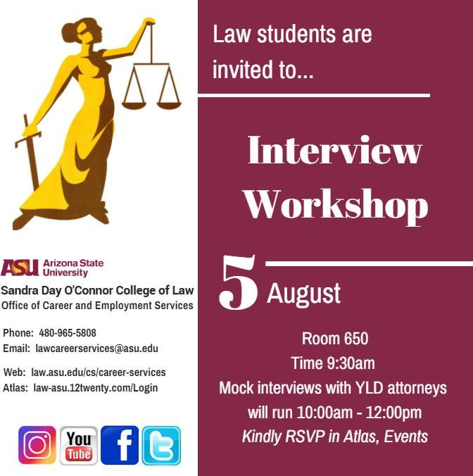 ASULawStudents, prepare for #OCI \ participate in the upcoming - interview workshop