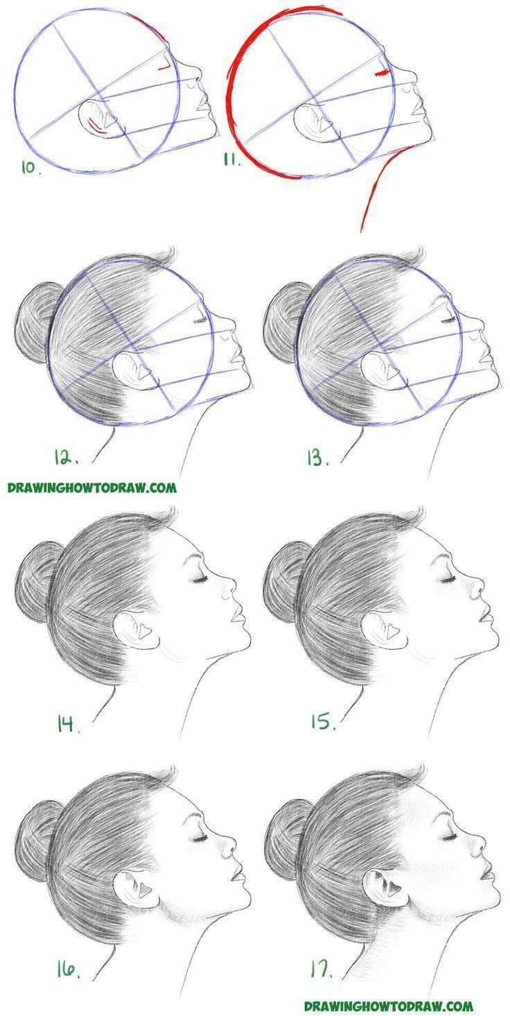 Aprenda A Desenhar Um Rosto Na Vista De Perfil Lateral Feminino