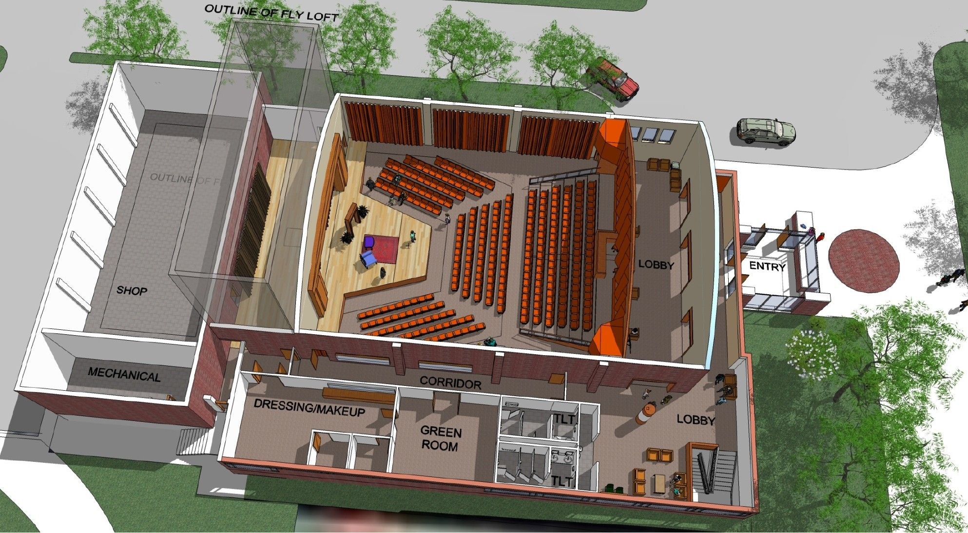 Theatre Main Plan Overview Lobby Design