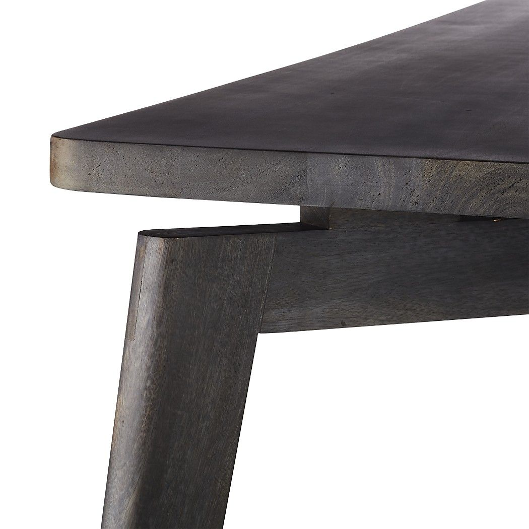 Shop Finmark Charcoal Black Wood Dining Table Designed By Jannis Ellenberger Beautiful Charcoal Stained Mango Dining Table Stained Table Black Dinner Tables