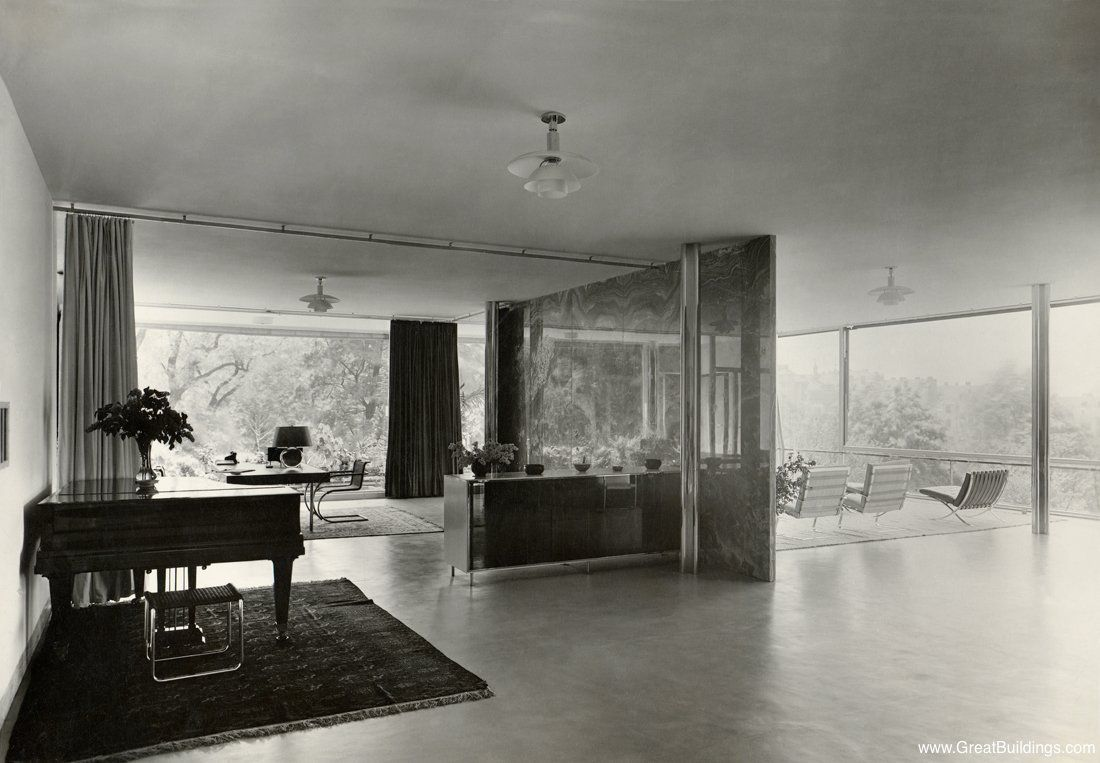 Architectureweek Great Buildings Image Tugendhat House Vitra Design Vitra Design Museum Mies Van Der Rohe