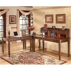 Hamlyn 4 Piece L Shaped Desk By Ashley Furniture At Becker World