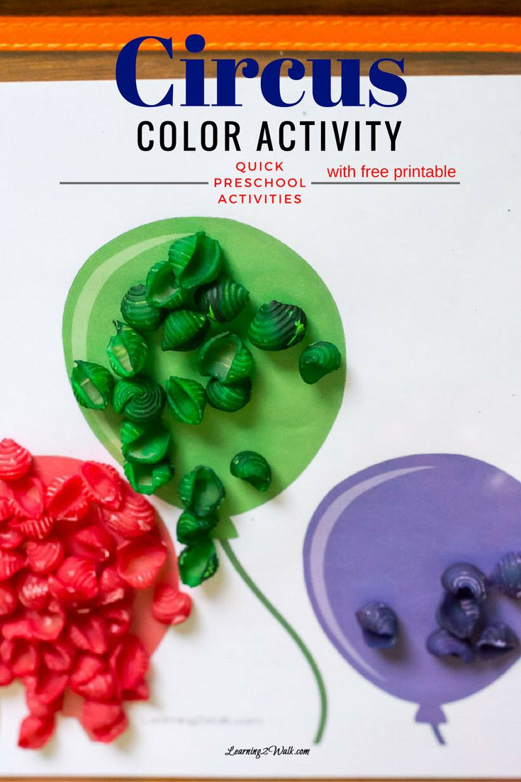 Here is A Quick and Awesome Circus Color Activity | Color activities ...