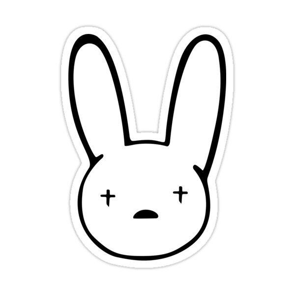 Bad Bunny Sticker Best Quality Bad Bunny Logo Decal X100pre Sticker By Carpert Bunny Wallpaper Bunny Logo Cute Laptop Stickers