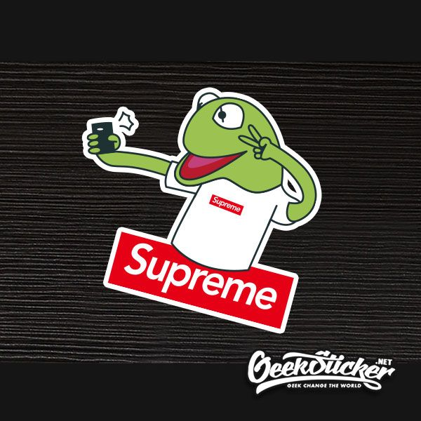 3faf2b12683 Find More Decals  amp  Stickers Information about Supreme Frog Camera Art  Graffiti Waterproof suitcase computer