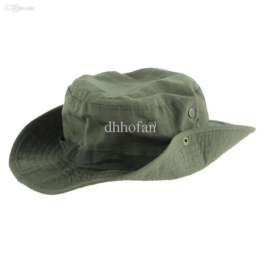 Military Army Green Boonie Bucket Cap Hat Fishing Camping Hiking Hot from Dhhofan,$4.05 | DHgate.com