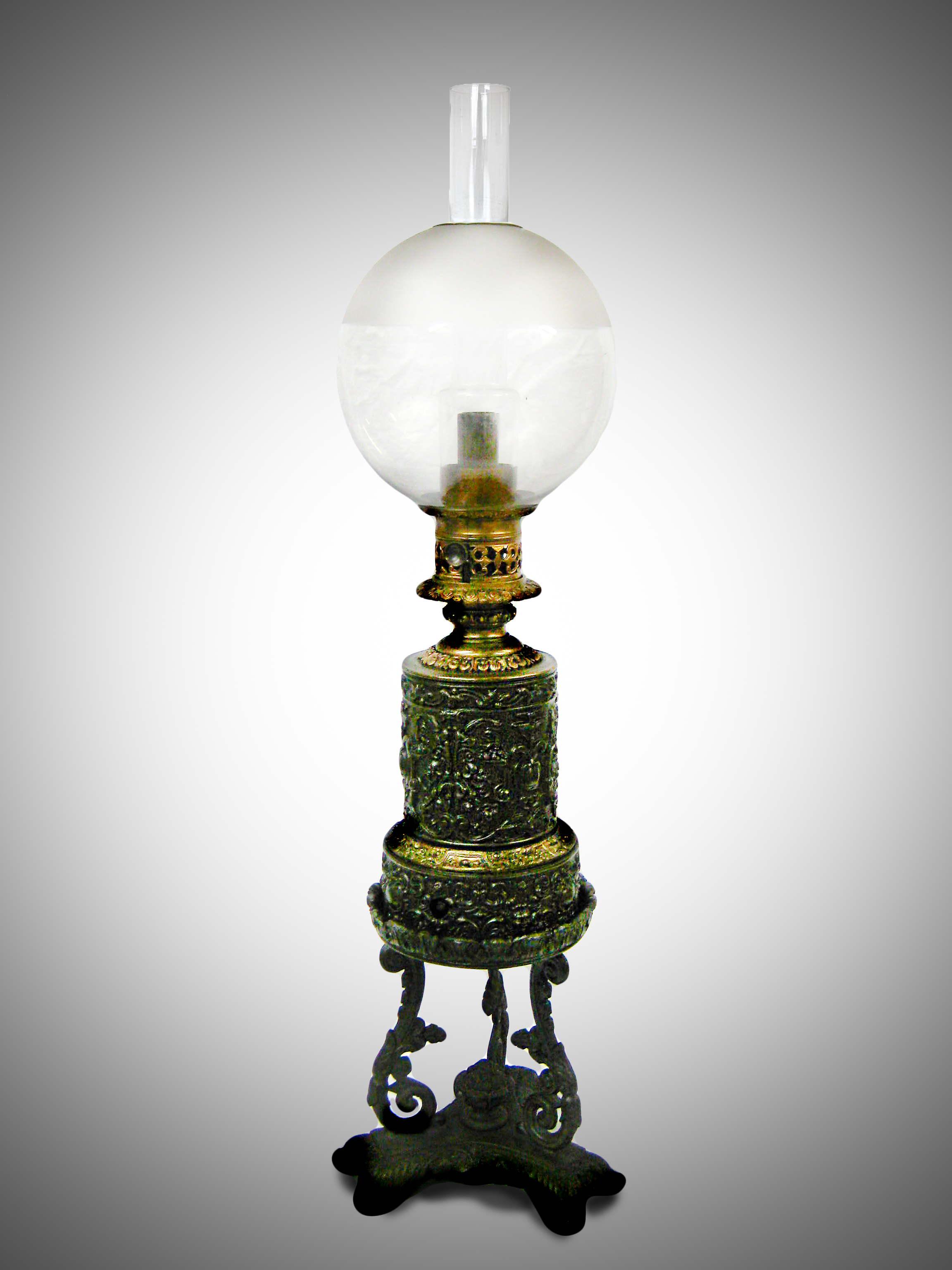 This Is A Carcel French Mineral Oil Lamp. Circa 1820. The Carcel Lamp Was  Invented By The French Watchmaker Bernard Guillaume Carcel (1750 1818).