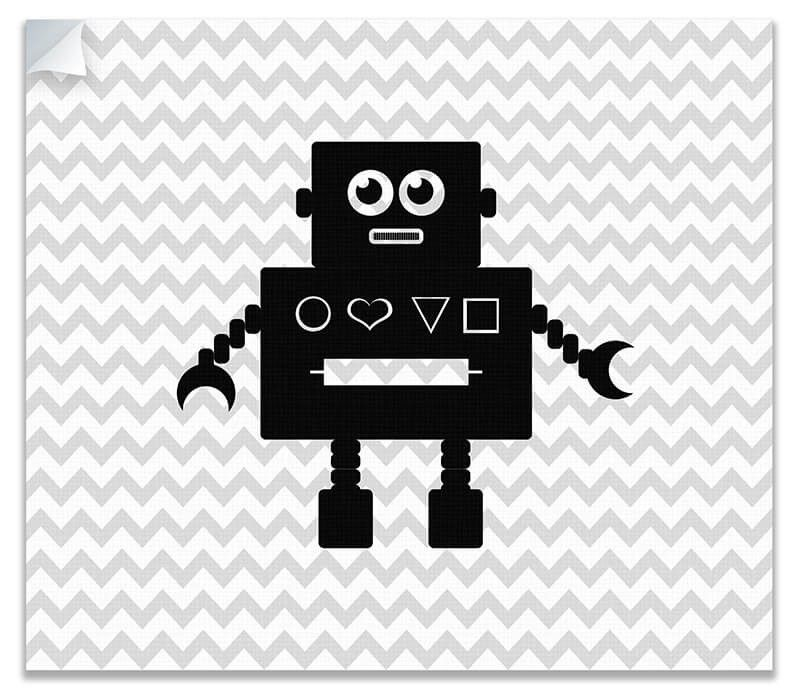 Robot Children's Canvas Wall Peel