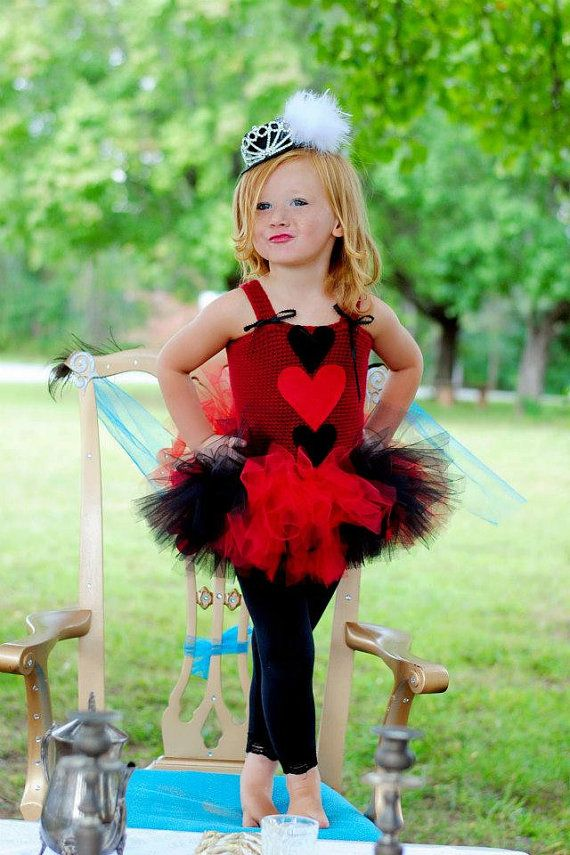 The cutest little girls Mad Hatter queen of hearts tutu dress. This dress is perfect as a Halloween costume or used in a mad hatter photo shoot!  sc 1 st  Pinterest & Pin by Sam Casto on Little Ones | Pinterest | Halloween ideas and ...