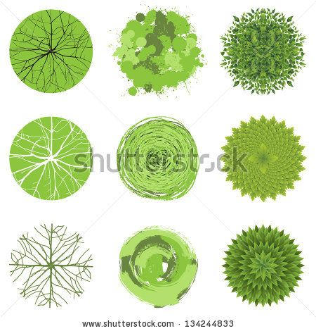 Royalty Free Stock Photos and Images Trees - top view Easy to