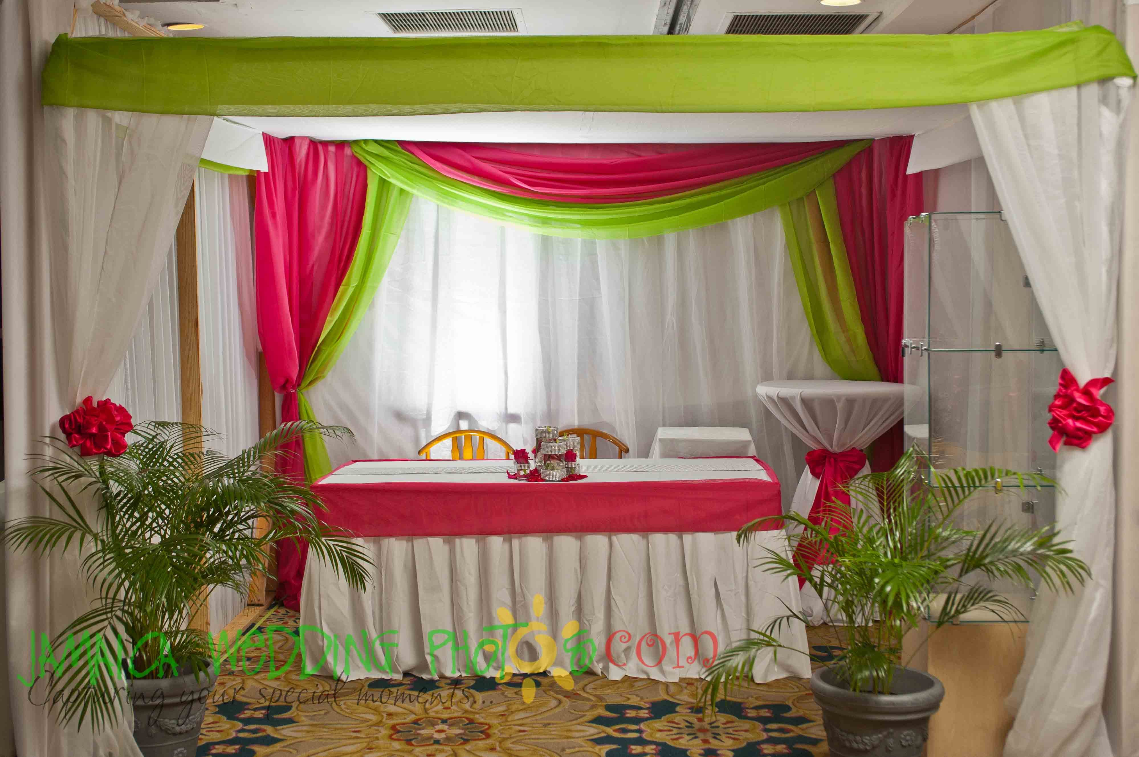 Hot pink and apple green wedding decor decor by helen g events hot pink and apple green wedding decor decor by helen g events jamaica junglespirit Gallery