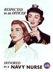 Respected as an Officer, Honored as a Nurse Standard poster print $95