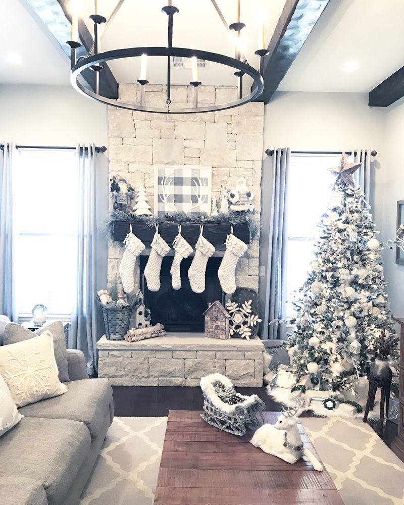 Neutral Christmas Decor Home Tour - Farmhouse Christmas Decor ...