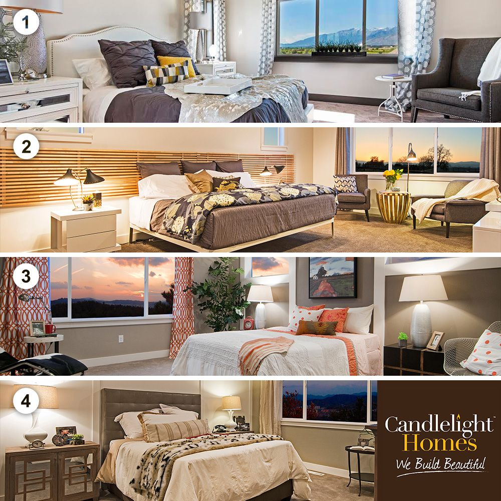VOTE BELOW for your favorite master bedroom by Candlelight Homes! For details on these beautiful bedrooms, visit our blog! #candlelighthomes #utahhomes #utahbuilder #webuildbeautiful #newhomesutah #lifestyle #blog #masterbedroom