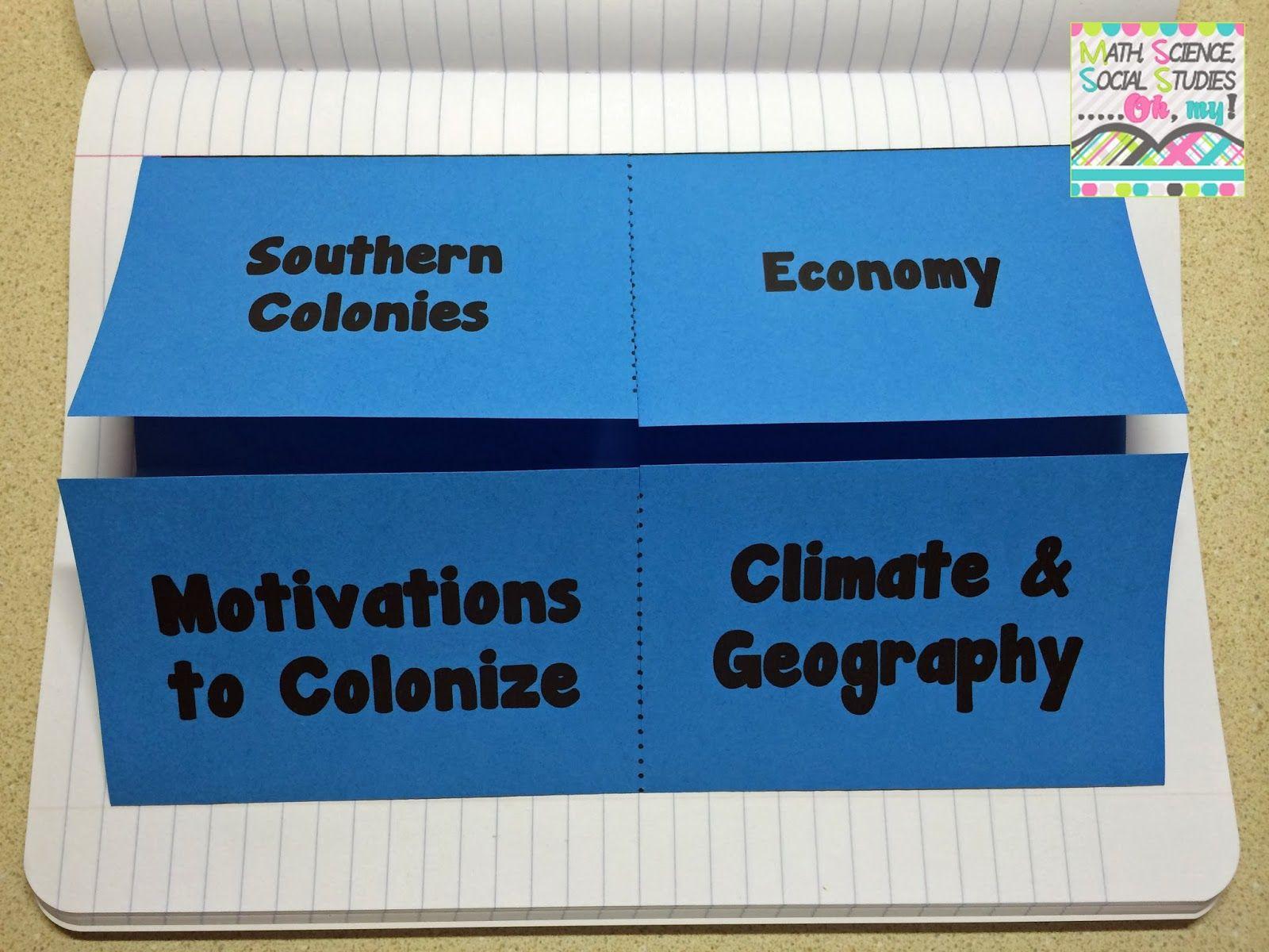 13 English Colonies Interactive Notebook Inb
