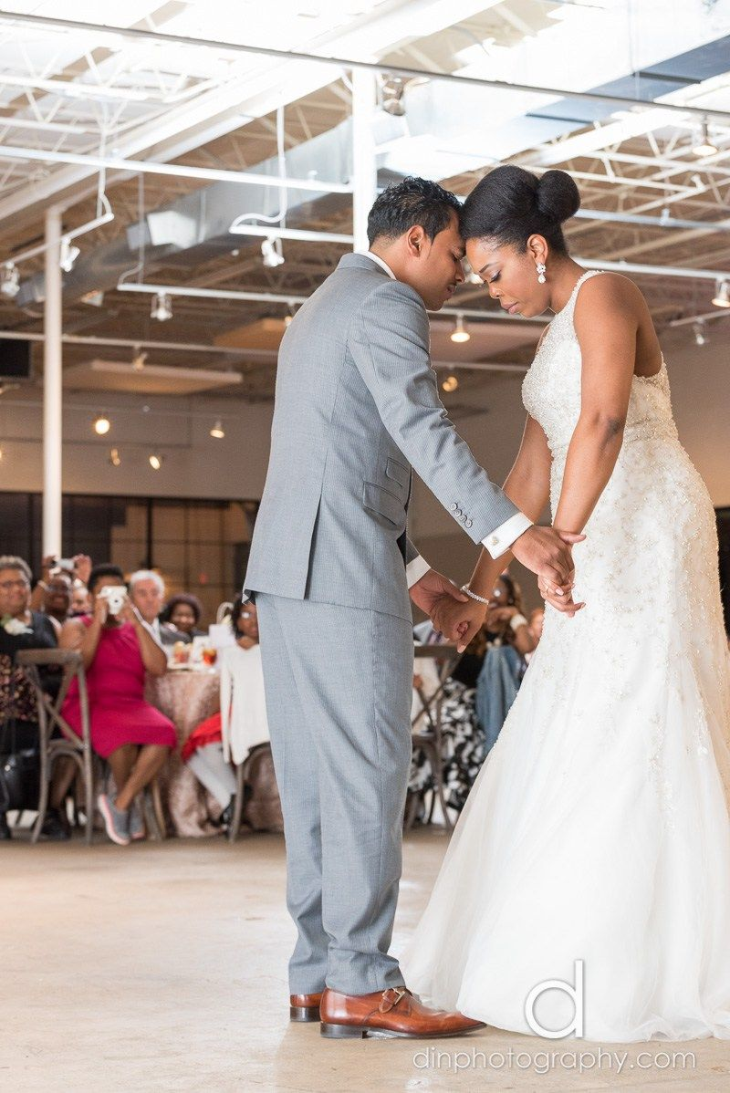 Bride and Groom Prayer | The Stave Room at American Spirit Works Wedding | Din Photography